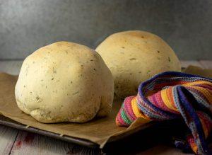 Baked in herbal dough