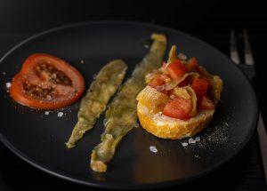 Vegan fish, made from eggplants