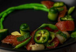 A delicious vegan fish course