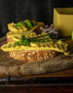 This vegan cheese will melt when heated.