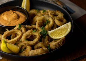 Vegan calamari - with spicy chipotle aioli