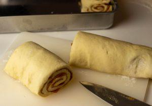 Cutting the rolls